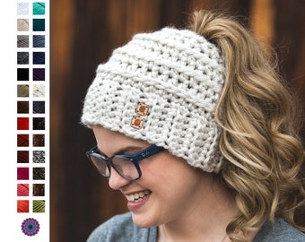 Ponytail Hat - Beehive Bun Beanie - Messy Bun Hat - Pony Hat - Messy Bun  Beanie - Women s Bun Beanie - Pony Hat - Christmas Gift for Her 762e99e89ad