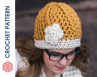 One Hour Ribbed Beanie CROCHET PATTERN - Crochet Ribbed Beanie Pattern - Quick Crochet - Beginner Crochet - Super Chunky Ribbed Hat