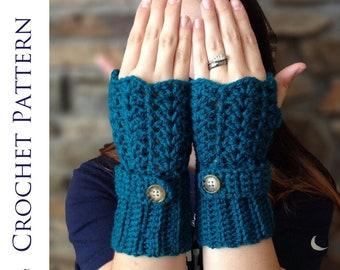 Feminine Lacey Fingerless Gloves CROCHET PATTERN - Crochet Fingerless Glove Pattern - Crochet Gloves - Texting Glove Pattern