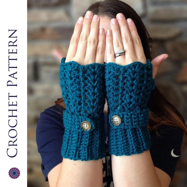 Feminine Lacey Fingerless Gloves Crochet Pattern Crochet Etsy