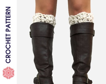 Chunky Boot Cuffs CROCHET PATTERN - Boot Toppers - Plus Size Boot Cuffs - Extra Small Boot Toppers