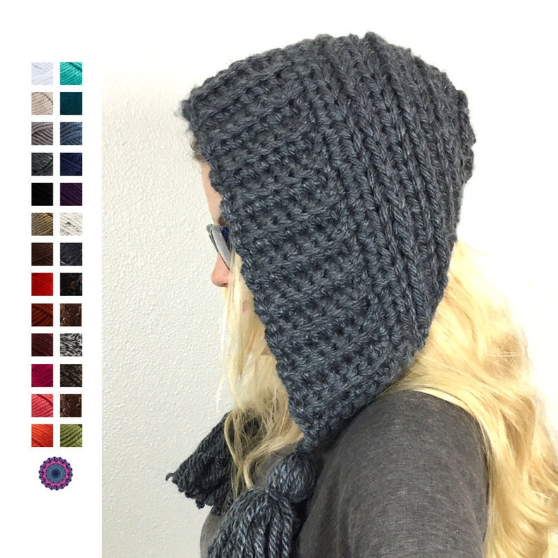 ea44835af30 Ready to Ship Women s Earflap Hat Crochet Earflap Hood