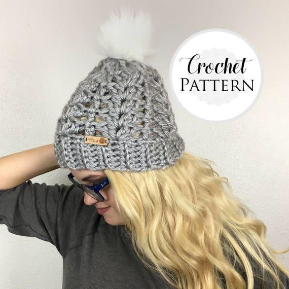 Women\'s CROCHET HAT PATTERN Winter Hat Crochet Pattern
