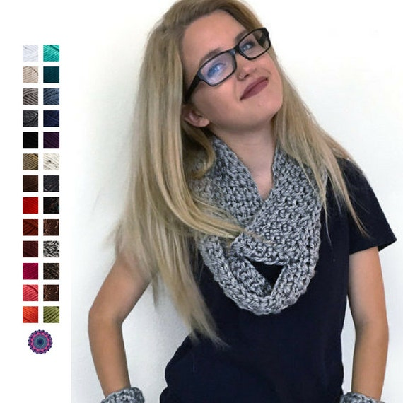 Womens Super Chunky Infinity Scarf Super Chunky Scarf Circle Scarf Wrap Scarf Knit Scarf Knit Infinity Scarf Cowl