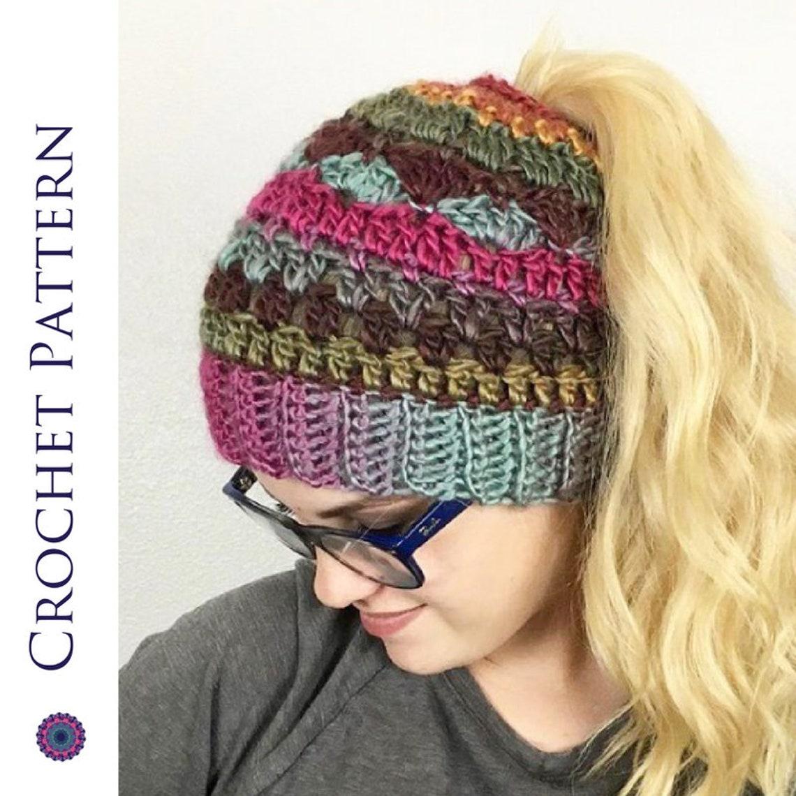 In self striping messy bun hat crochet pattern etsy jpg 1140x1140 Bun hat  beehive crochet pattern 06d8d7e6342
