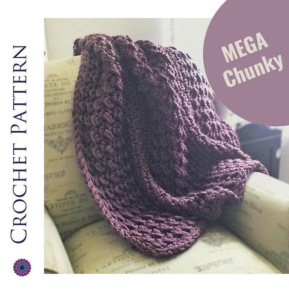 Chunky Blanket Crochet Pattern Crochet Chunky Blanket Etsy