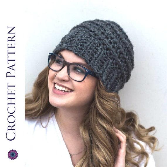 Beehive Beanie Crochet Pattern Striped Beehive Hat Pattern Etsy