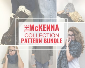 CROCHET PATTERN Bundle | McKenna Collection | Super Chunky Fashion Accessories for Makers