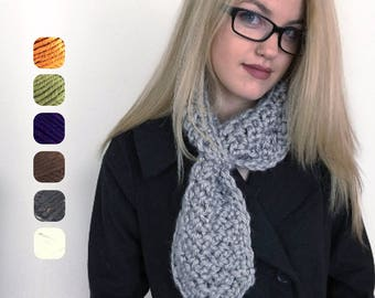 Pull Through Scarf - Loop Scarf - Chunky Pull Thru Scarf - Chunky Scarf - Jacket Scarf - Unisex Scarf - Women's - Gifts Under 25