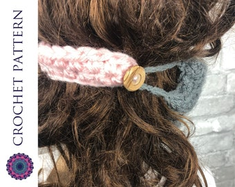 CROCHET PATTERN Sore Ear Saver Mask Holder with Buttons