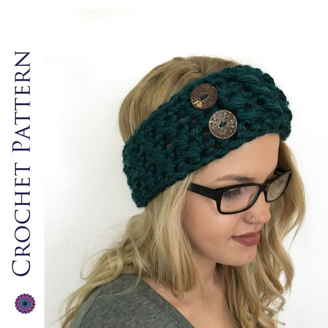 Chunky Headband Crochet Pattern Headband Pattern Ear Etsy
