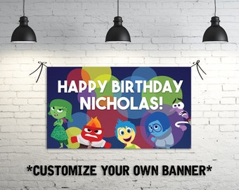 Inside Out Birthday Party Banner