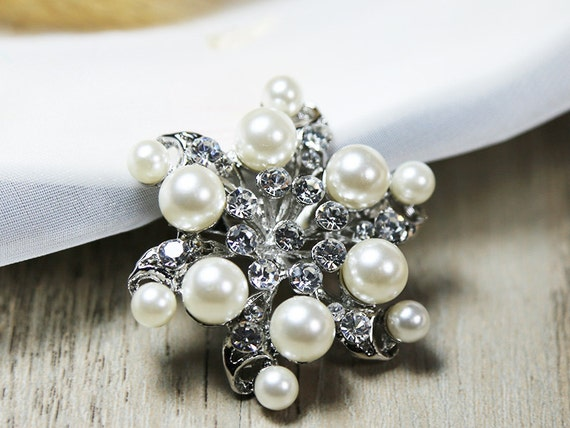 Wholesale 10x Rhinestone Cameo Brooch Pin Bridal Wedding Bouquet Decor Gift BLUE