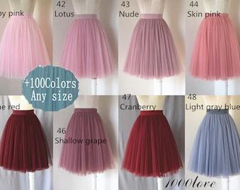 c5a396cf0b Adlut short tulle skirt
