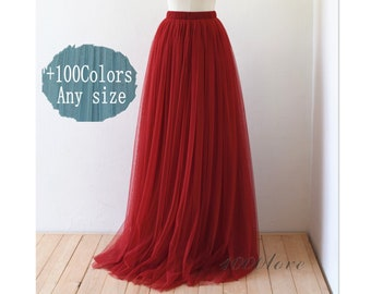 adcd1f0669 Maxi tulle skirt, wedding party adult tutu, bride dress,red tulle skirt