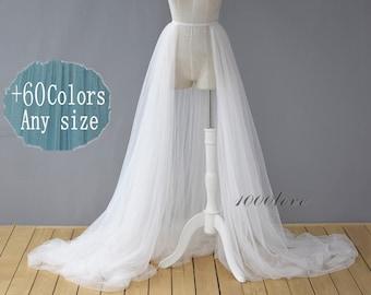 White detachable overskirt,  one layer  two layer or three layer ,softest tulle skirt ,bride wedding  skirt,photo shoot tulle skirt