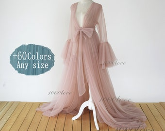 Custom Sheer tulle dress formal evening dresses,long sleeves photo shoot tulle dress,Maternity Photography ,Tulle Maternity Gown,robe dress
