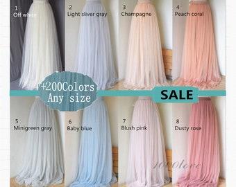 Adult wedding bridesmaid tulle skirt,bridesmaid dress, maxi skirt,photo shoot skirt,any size women skirt, wedding skirt,more than 200 colors