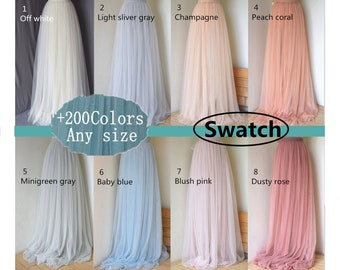 Sample of the tulle, color swatch  of tulle,color card of the tulle, more than 200 color for choose