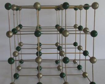vintage scientific molecular atomic structure for engineering school 1960