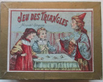 antique dexterity  oracle game puzzle with magician and children