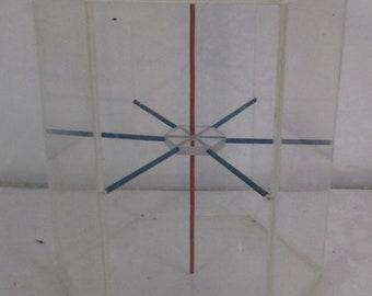 forme géométrique en plexi vintage pour l'école éducation-matheematics