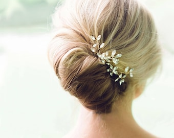 Floral Hair Pieces for Wedding Green Bobby Pin Set Bridesmaid H4215 Yellow Hair Pins for Buns Pearl Bobby Pins Bridal Accessory