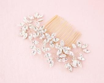 Everthine Crystal Bridal Comb Gold, Wedding Hair Accessories, Hair Comb, Hair Accessories, Gold Hair Comb, Bridal Comb, Gold Headpiece
