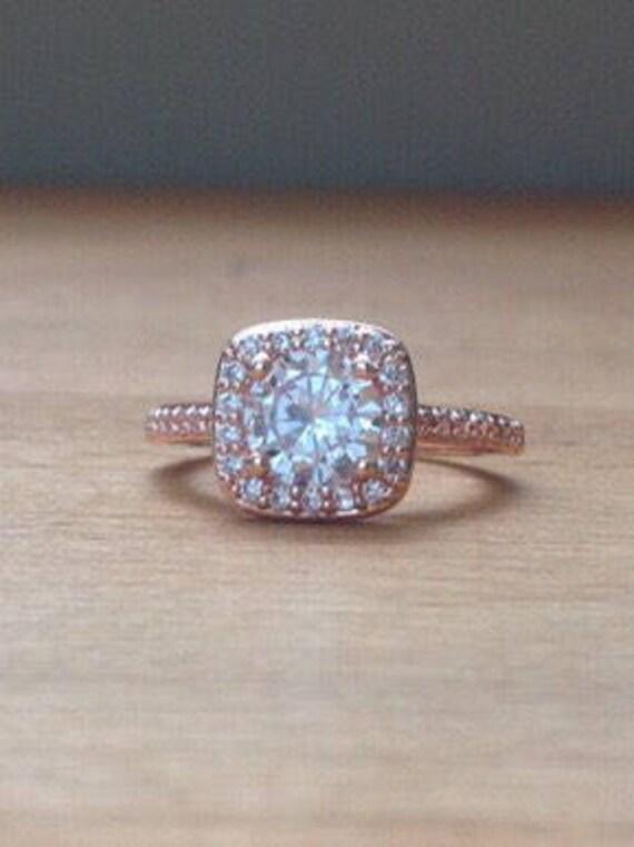 Oversized Rose Gold Timeless Elegance Ring Etsy