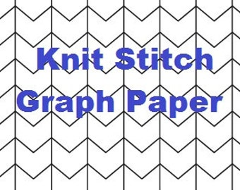 Knit Stitch Graph Paper Bundle - Colorwork Grids - Design Your Own Colorwork - Portrait and Landscape