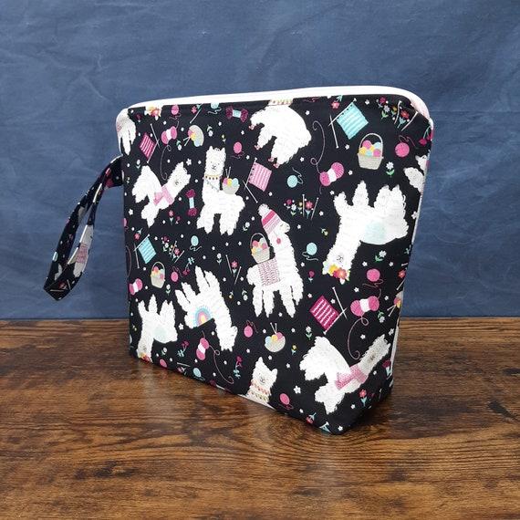 Wedge Bag Made to Order Project Bag 1-2 Skein or 5-7 Skein Project Bag Zipper Handle