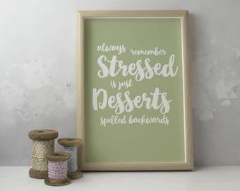 Stressed Desserts Etsy