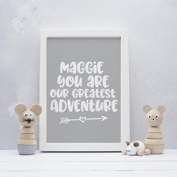 Neues Baby Geschenk Personalisiert Sie Sind Unser Größter Abenteuerdruck Personalisierter Druck Kindergarten Kunstdruck Personalisierter Druck