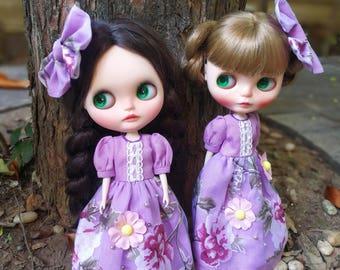 Sweet purple dress for blythe