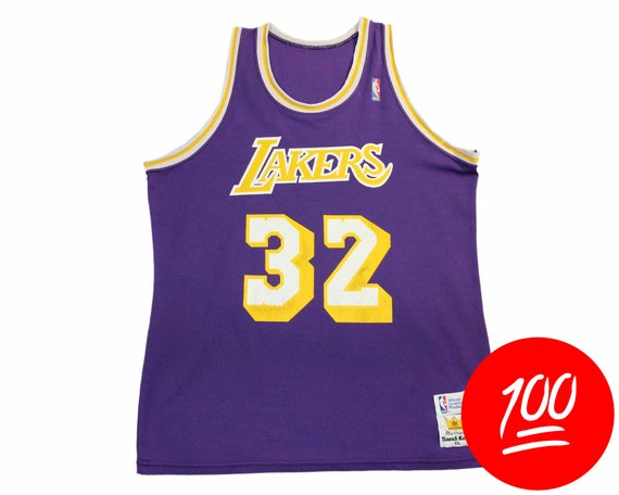 80s MAGIC JOHNSON Vintage Jersey Men L    LA Lakers Retro  2940ca496