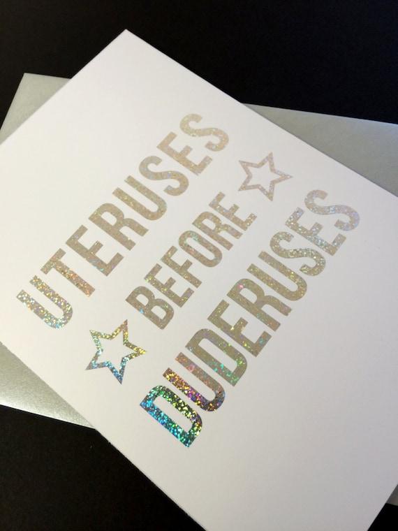 Uteri prima Duderuses! A6 olografica sventato cartolina d'auguri, ispirato da parchi e ricreazione