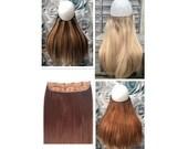 One piece CLIP IN hair ex...