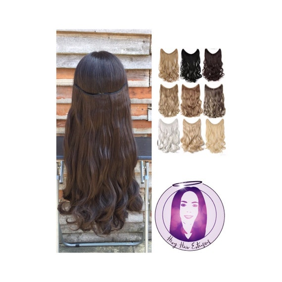 Halo Miracle Wire Hair Extensions 20 110g Wavy Or Etsy