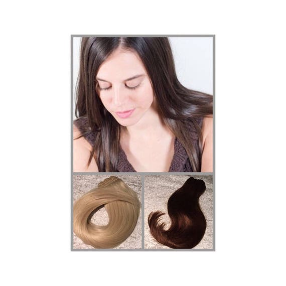 Weft Hair Extensions Human Remy Hair Extensions 15 Etsy