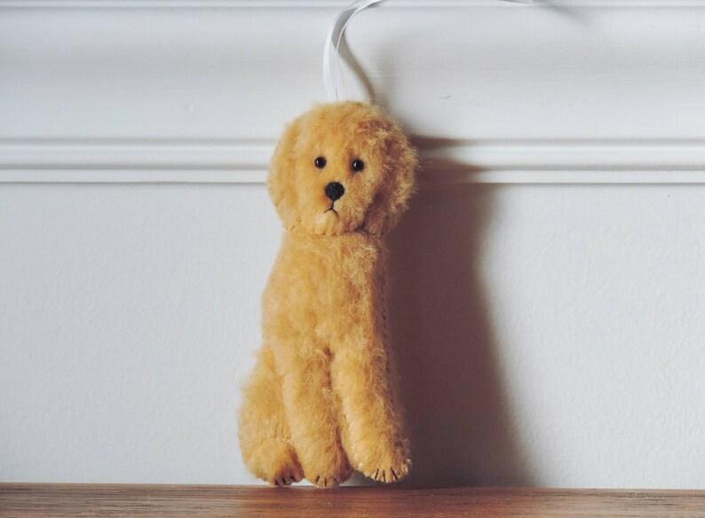 Golden Doodle Ornament Labradoodle Ornament Felt Doodle Dog Tan Brown  Doodle Black Goldendoodle Copper Red Blonde Standard Doodle White