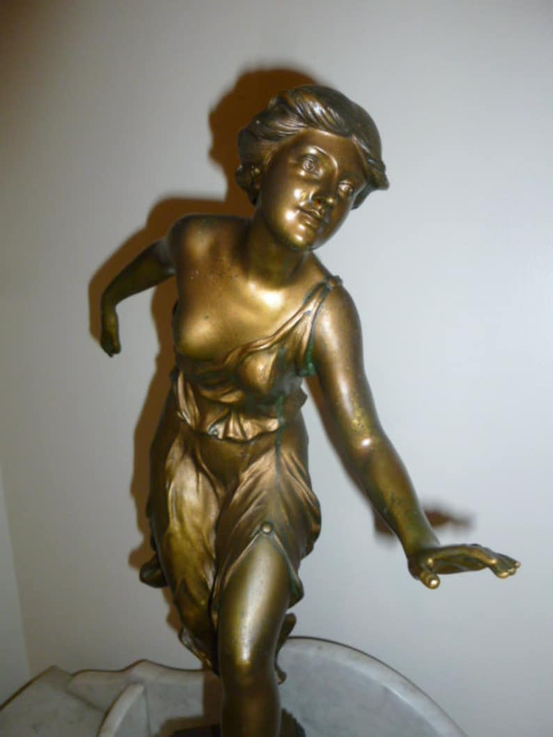 Art Deco Latest Collection Of Art Deco Bronze Sculpture Of A Girl With Hoop Signed Georges Morin France 1920 Art Sculptures