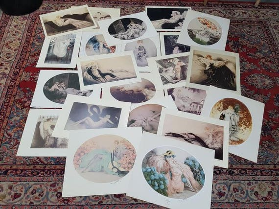: Art Print of Vintage Art : Persian Cat by Louis Icart