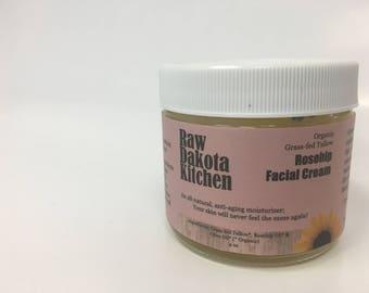 Rosehip Facial Cream (Coconut Oil Free)   2oz jar