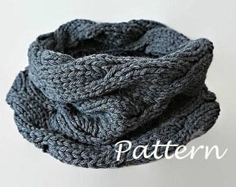 KNITTING PATTERN Knit Infinity Scarf Pattern Eternity Scarf Knitting Pattern Knitting Circle Scarves Pattern