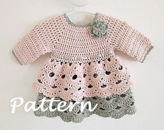 a9eb0d8972b0 Crochet PATTERN Baby Dress Dress Pattern Crochet Newborn Outfit Baby Girl  Clothes Crochet Baby Dress PATTERN PDF (sizes up to 4 years)