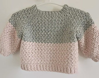 Baby Pullover Häkeln Etsy