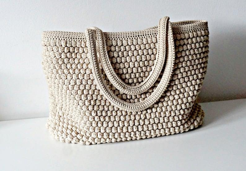 CROCHET PATTERN Crochet Bag Pattern Tote Pattern crochet purse image 0