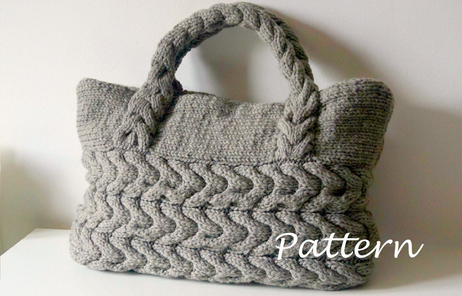 KNITTING PATTERN Cable Bag Knitting Pattern Knit Bag Pattern | Etsy