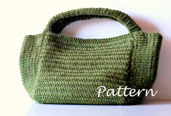 Knitting Pattern Knitting Bag Pattern Bag Making Tutorial Etsy