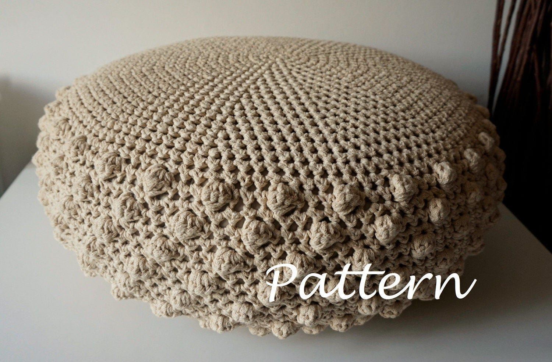 CROCHET PATTERN Crochet Pouf Poof, Ottoman, Footstool, Home Decor ...